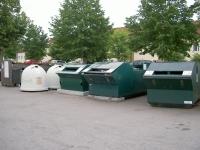 Bild på återvinningsstation